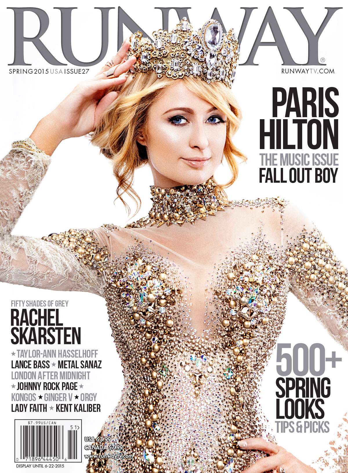 Paris Hilton RUNWAY cover